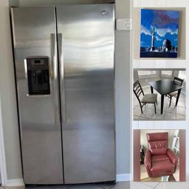 MaxSold Auction: This online auction features a stainless steel refrigerator, washer and dryer, Queen bedroom set, desk, chair, office items, car care items, kitchenware, housekeeping items, leaf blower, garden tools, TV, decor, Christmas decor, ladders, outdoor items, workbench, pressure washer and much more!
