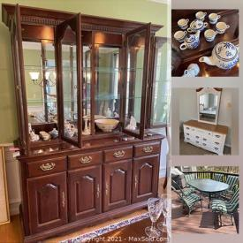 MaxSold Auction: This online auction features dining room furniture, art prints, bookcases, books, party supplies, Lenox Nativity figures, desk set, legos, pocket watches and much more!