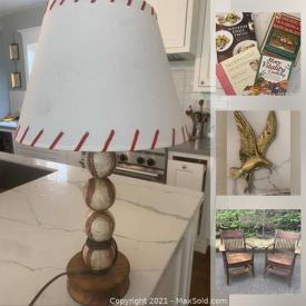 MaxSold Auction: This online auction features Duncan Phyfe-style table, Wood California shutters, NIB laminator, antique brass sconces and much more!