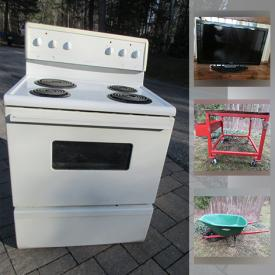 MaxSold Auction: This online auction features Area Rug, Outdoor Burners, Fridged, Electric Stove, Carnival Glass, Crystal Vases, Small Kitchen Appliances, Sports Collectibles, Women's Clothing, HDTV, Golf Clubs, BBQ Grills and much more!