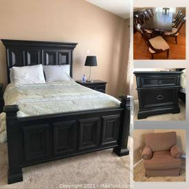 MaxSold Auction: This online auction features a daybed, rocking chair, dining table and chairs, chair and ottoman, bedframe, bedroom bench, nightstands and more!