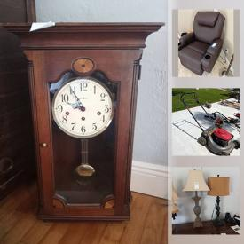 MaxSold Auction: This online auction features Capodimonte, antique plates, furniture, Fine china, crystal, office chairs and stools, silver jewelry, garden plants, lawnmower, power tools, yard tools, pressure washers and much more.