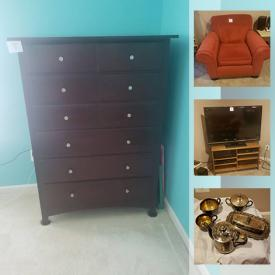 MaxSold Auction: This online auction features Skovby Pedestal dining table, Brown leather furniture, Saxophone, Ceramic Turtle music boxes, TV, Adirondack chairs, bedroom furniture, fishing gear, collectible teacups, yard tools and much more!