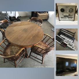 MaxSold Auction: This online auction features furniture, Apple monitors, display cases, electronics, Marvel comics, records, musical instruments, computer equipment and much more