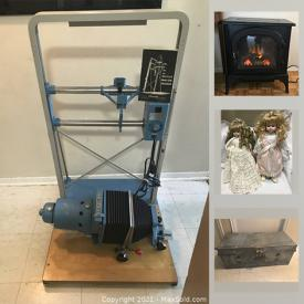 MaxSold Auction: This online auction features Electric Fireplace, Darkroom supplies including Enlarger, Lenses, Focusing Scopes. Vintage cameras, Vinyl Albums, Dolls, Toys, Funko Pop, Men's and Women's Clothing, Youth Bicycles, Game of Thrones Books and much more!