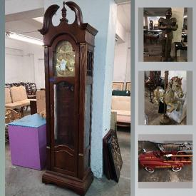 MaxSold Auction: This online auction features stoneware pottery, grand piano, furniture such as Duncan Phyfe tables and chairs, European antique nightstands, armoires, and French provincial sofa, wall art, cabinets, wooden doors, lamps, home decor and much more!