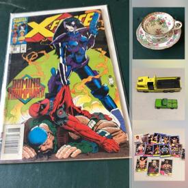 MaxSold Auction: This online auction features Sports & Non-Sports Trading Cards, Comics, Funko Pop Collectibles, Vintage Books, LPs, Playing Cards, Novelty Cake Pans, Decorative Plates, NIB Barbies, Puzzles, Collectible Teacups, NIP Hot Wheels, Art Glass and much more!