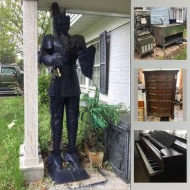 MaxSold Auction: This online auction features dining room set, side tables, Chinaware, Mikasa, glassware, musical instruments, wall art, pottery, furniture, Deli appliances and much more.