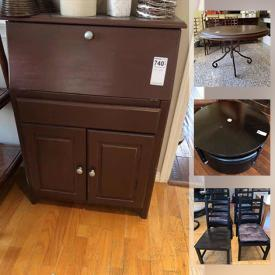 "MaxSold Auction: This online auction features 42"" Panasonic TV, NIB photo printers, furniture such as bed frame with adjustable mattress, desk chairs, IKEA dining table and chairs, Ethan Allen armchairs, and wood cabinets, home decor, planters, wall art, exercise equipment, lamps, shelving and much more!"