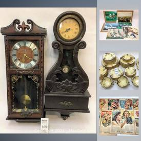 MaxSold Auction: This online auction features antique mantle clocks, wall clocks, antique portraits, vintage ephemera, small home appliances, Doulton china, industrial storage racks, tea sets, garden tools, folding metal sawhorses, books, stone carvings, vintage enamelware, vintage gloves, Ikea chair, comforter set, unframed prints, frames, vintage bowls, Crown Ducal china and much more!