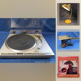 MaxSold Auction: This online auction features New & Used LPs, 45 RPMs, art glass, Inuit art, collectible teacups, stereo components, Rock Band T-shirts and much more!