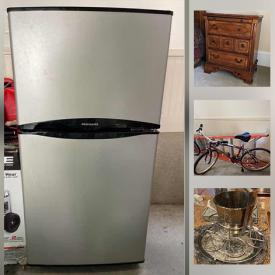 MaxSold Auction: This online auction features a pool table, piano, chair, vintage buffet, curio cabinet, TV tray, chairs, dining table, bench, movie chairs, nightstands, linens, kids toys, trunk, electronics, art, washer and dryer, wine cooler, jewelry and much more!