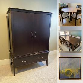 MaxSold Auction: This online auction features Bed Frame, Dressers, Dining room table, Couches, Loveseats, Chests, Barstools and more.