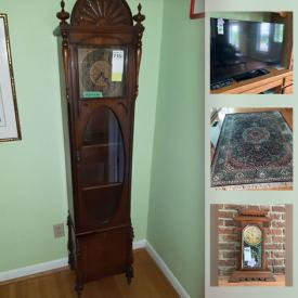 MaxSold Auction: This online auction features Sterling Silver Flatware, Teak Furniture, Cabinet Clock, Sun catchers, Dog Supplies, Purses, Glassware, Antiques, Furniture, Flatscreen TVs, Xbox 360, Popcorn Machine, Bose and much more.