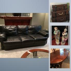 MaxSold Auction: This online auction features air conditioners, dog crate, furniture, statues, lamps, figures, ceramics, Mikasa, dinnerware, wall art, motor cross gear, tools, patio furniture, sporting equipment and much more.