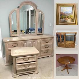 MaxSold Auction: This online auction features kitchen appliances, vacuums, furniture, lamps, costume jewelry, artwork, office supplies and much more.