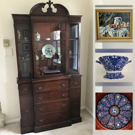MaxSold Auction: This online fundraising auction features Heritages Houses, Joan Walsh Anglund Dolls, Lladro Figurines, Roy Rogers Memorabilia, Chinese Teapots, Beatrix Potter Figurines, Royal Copenhagen Plates, David Bagwell Watercolors, Art Pottery, Depression Glass, Longaberger Baskets and much more!