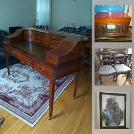 MaxSold Auction: This online auction features antique furniture, antique Bagpipes, garden statue, jewelry, live plants, art pottery, cookie jars, Wedgwood, African mask, framed artwork, Hoselton sculpture, vintage pyrex and much more!