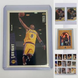 MaxSold Auction: This online auction features Kobe Bryant Rookie Card, Ray Allen, Steve Nash, TOPPS Cards, Black Diamond cards, Upper Deck, Ray Allen, Allen Iverson, Tom Brady card and much more.