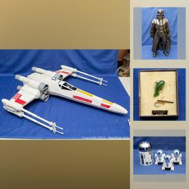 MaxSold Auction: This auction features Jade necklaces, Jade bracelets, MCM clock, MCM furniture, Amber pendants, silver jewelry, STAR WARS, clocks, globe, statues, figures, Model trains and much more.
