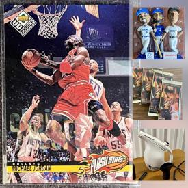MaxSold Auction: This online auction features pendant ceiling light, sports memorabilia, sports cars, table lamp, music memorabilia and much more!