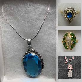 MaxSold Auction: This online auction features High-Quality jewelry, never used, ready for Mother's Day. Emeralds, Rubies, Sapphires and semi-precious gems.