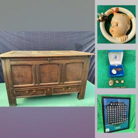MaxSold Auction: This online auction features Antique Hampton Pattern Wilkinson Staffordshire England dish and servingware, vintage Tintin graphic novels in French, vintage fishing lures, books, silverplated items, vintage jewelry, vintage pens, NHL hockey coins, decorator books, hockey collectibles, patches, antique pine blanket box, vintage Goebel wall hanger, Stanley Cup champions blue caps framed and much more!