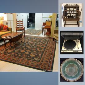 MaxSold Auction: This online auction features Clay bowls, Noritake, Venetian glass, spode, costume jewelry, dressers, nightstands, chairs, signed artwork, antique books, air conditioners, washing machine, dryer, stove, office supplies, power tools and much more.