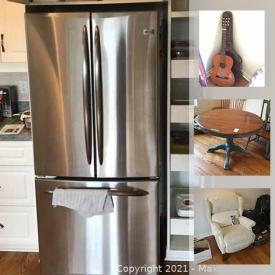 MaxSold Auction: This online auction features Lazy Boy furniture, artwork, signed art, Swarovski, guitar, costume jewelry, frigidaire freezer, camping and much more.