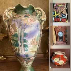 MaxSold Auction: This online auction features Satsuma Pottery, Hobnail Milk Glass, Magic Cards, Sewing Machine, Toys, Comics, Hess trucks, Patio Furniture and much more!