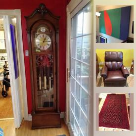 MaxSold Auction: This online auction features stained glass, wall art, art pottery, Royal Doulton crystal, grandfather clock, Evesham, gas grill, art glass, area rugs, Cranberry glass and much more!