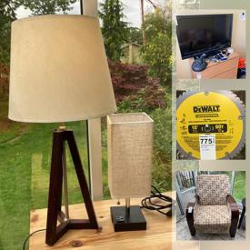"""MaxSold Auction: This online auction features NIB Sodastream, reclining chairs, computer desk, lamps, small kitchen appliances, lego, 40"""" Sony TV, 60"""" Panasonic TV, Brother printer, shelving units, books, fishing gear, hardware, power tools and much more!"""