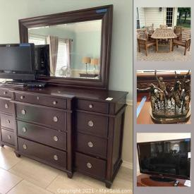 MaxSold Auction: This online auction features golf clubs, Frederic Remington statues, Mikasa Crystal, small kitchen appliances, TV, Lane bedroom furniture, Patio furniture and much more!