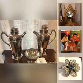 MaxSold Auction: This online auction features crystal, infinity glass, artwork, sterling jewelry, records, Imperial dishes, Tackle boxes, camping gear, vintage radios, toys and much more.