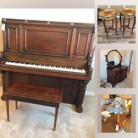 MaxSold Auction: This online auction features antique furniture, Shoji Display Shelf, Sake pitchers, printer, DeGrazia bells, Waterford crystal, Asian fishbowl, antique upright piano, Japanese dolls, Asian ceramics, Coromandel screen and much more!