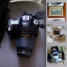 MaxSold Auction: This online auction features cameras, tools, exercise equipment, collectible teacups, wine rack, gardening tools, fishing gear and much more!