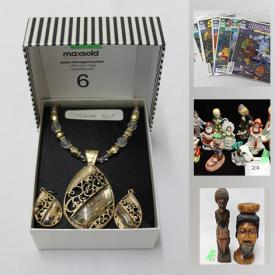MaxSold Auction: This online auction features jewelry including sterling and gold, diecast vehicles, Lladro, acoustic guitar, Noritake china, vintage cameras, Meakin dinnerware, vintage toys, Star Wars collectibles, comics books, colognes, Wad figures and much more!