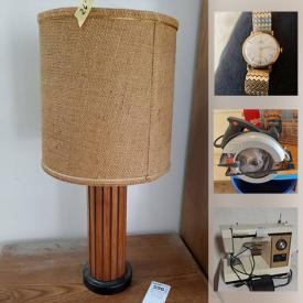 MaxSold Auction: This online auction features original wall art, small kitchen appliances, MCM furniture, coins, cameras, telescopes, power tools, sports equipment, stereo components, stamps, LPs and much more!