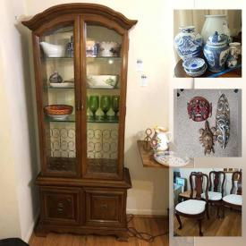 MaxSold Auction: This online auction features crystal ware, silver plate, and fine china, furniture such as Asian dresser, cabinets, carved chair, and armoire, original art, soapstone sculptures, dishware, books, area rugs, cookware, small kitchen appliances, shelving and much more!