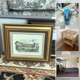 MaxSold Auction: This online auction features French Provincial Furniture, Exercise Equipment, Folk Wall Art, African Art Figurines, Small Kitchen Appliances, Duck Decoys, Salt & Pepper Collection, Collector Plates, Art Supplies, Blank Art Canvases, Oil Lamps, Bird Figurines, Original Artwork, Coins, Patio Furniture, Fire Pit, Power & Hand Tools and much more!