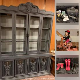 MaxSold Auction: This online auction features variety of vintage dolls and toys, furniture, workout, fine ceramic pieces, Masterpieces, model truck, and entertainment and much more.