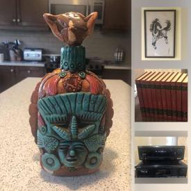 MaxSold Auction: This online auction features paintings, prints, books, encyclopedias, German art deco desk clock, electronics, art bowls, vintage amber glass, vintage Italy glass, large cobalt bowl, Chinese compass, antique stoneware, Native American art bottles and much more!