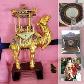 MaxSold Auction: This online auction features small kitchen appliances, Cranberry glass, Rosenthal plates, Love story dishes, Carnival glass, Sadler teapots, Moorcroft boxes, collectible teacups, steins, mirrored double-door cabinets, costume jewelry, office supplies, art glass and much more!