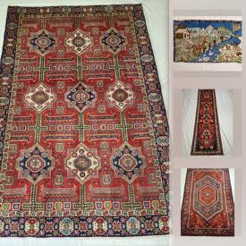 MaxSold Auction: This online auction features Persian rugs, Mashad, Hamedan Runner, Baluch, Zanjan and much more.