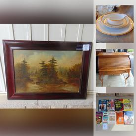 MaxSold Auction: This online auction features Range Hood, Sterling Silver Pins, Art glass, Antique and Vintage Furniture, Wedgwood, Noritake, Bar fridge, Primitive and much more.