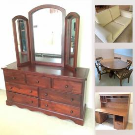 MaxSold Auction: This online auction features sculptures, wall art, furniture, signed paintings, oriental room dividers, glassware, Limoges, vintage jewelry, electronics and much more.