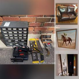 MaxSold Auction: This online auction features Hardware and vintage tools, stylish furniture, outdoor appliances, gardening, electronics, exercise machines, clothing and silverware and much more.