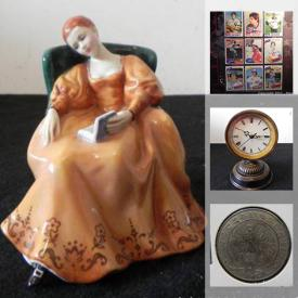 MaxSold Auction: This online auction features art glass, coins & banknotes, musical instrument, art pottery, Ceramic figurines, board games, toys, comics, sports cards, cameras, jewelry and much more!