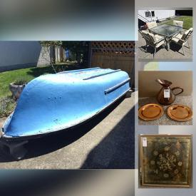 MaxSold Auction: This online auction features patio furniture, yard & garden grooming tools and supplies, bedroom furniture, boat, sporting goods, camping gears, workshop hand and power tools, hardware, copper decor, computer equipment and components, women's shoes and much more!