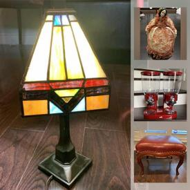 MaxSold Auction: This online auction features Tiffany Style Table Lamp, Cat Power Stations, NIB Gazebo Canopy, Portable Desk Riser, Men's Desk Shirts, Office Supplies, Outdoor Furniture and much more!